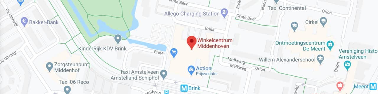 map winkelcentrum middenhoven